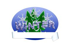 Winter Banner Stock Images