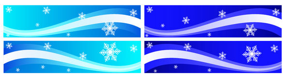 Winter banner Stock Image