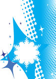 Winter banner.Abstract snowflake Royalty Free Stock Image