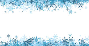 Winter banner with blue snowflakes. Royalty Free Stock Photos