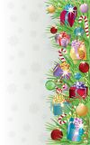 Winter banner with christmas gifts. Royalty Free Stock Photo