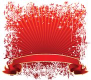 Winter banner red Royalty Free Stock Photography