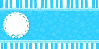 Winter banner with round pattern and space for text. Stock Image