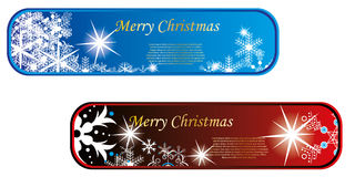 Winter banner set. Red and blue Stock Photography