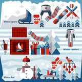 Winter banner set Royalty Free Stock Photos
