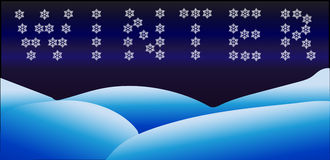 Winter banner, sign made from snowflakes Stock Image