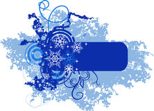 Winter banner with snowflakes. Vector illustration Stock Photo