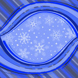 Winter banner with snowflakes. Vector illustration Stock Photos