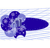 Winter banner with snowflakes. Vector illustration Stock Photography