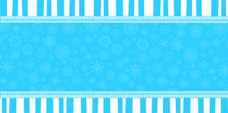 Winter banner with space for text Royalty Free Stock Photography