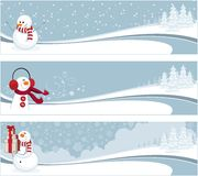 Winter banners Royalty Free Stock Image