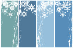 Winter banners. Collection of four vertical winter banners Stock Photo