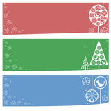 Winter banners Stock Image