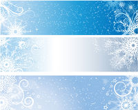 Winter banners Royalty Free Stock Photos