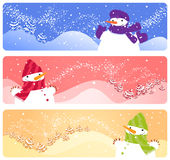 Winter banners. Set of three winter banners Royalty Free Stock Image