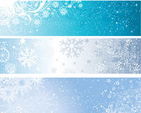 Winter banners. Various designs of decorative winter themed banners Stock Image
