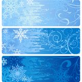 Winter Banners stock illustration