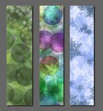 Winter banners Royalty Free Stock Photo