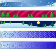 Winter banners. Vector - web banners with christmas winter theme Stock Photos