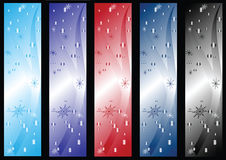 Winter banners. Of different colors. Vector illustration Stock Image