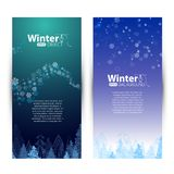Winter banners Royalty Free Stock Images