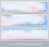 Winter banners 1 Royalty Free Stock Image