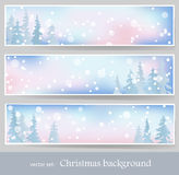 Winter banners 2 Stock Image