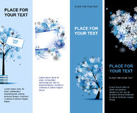 Winter banners with place for your text Royalty Free Stock Images