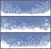 Winter banners Royalty Free Stock Photography