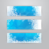 Winter banners Stock Photos