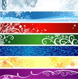 Winter banners  with space for your text Stock Images