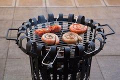 Winter Barbecue Stock Photos