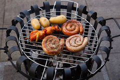 Winter Barbecue Stock Photography