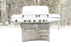 Winter Barbeque Stock Photo
