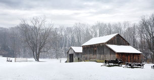 Free Winter Barn Stock Image - 18551211