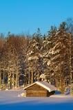Winter Barn Stock Images