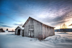 Winter barn Royalty Free Stock Photos