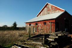 Winter Barn. An old barn on a cold winter day royalty free stock images