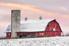 Free Winter Barn At Sundown Royalty Free Stock Photos - 51634188