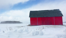 Winter Barn Royalty Free Stock Images