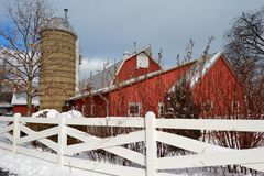 Winter Barn Royalty Free Stock Image