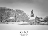 Winter Barn. Scene in Painesville, Ohio royalty free stock photo
