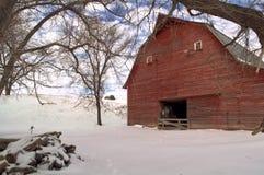 Winter barn Stock Image
