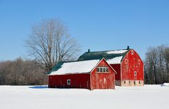 Winter Barns Royalty Free Stock Photos