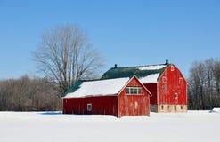 Winter barns royalty free stock photos