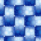 Winter Basketwork Seamless Background. Stock Image