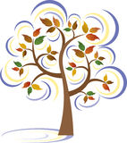 Winter-Baum vektor abbildung