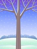 Winter-Baum-Hintergrund vektor abbildung