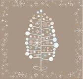 Winter-Baum-Hintergrund Stockbild