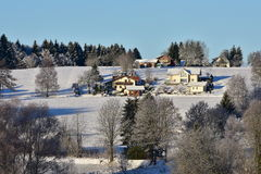 Winter in Bayerischer Wald Royalty Free Stock Image